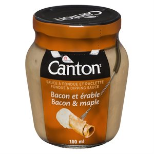 Sauce à fondue bacon érable 180ml