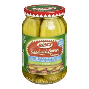 Cornichons sandwich aneth 50% -sel 500ml
