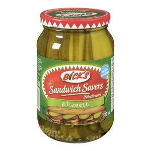 Cornichons sandwich aneth piquant 500ml