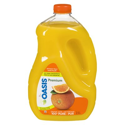 Jus d'orange sans pulpe 2.5lt