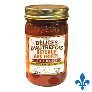 Ketchup aux fruits maison 425ml